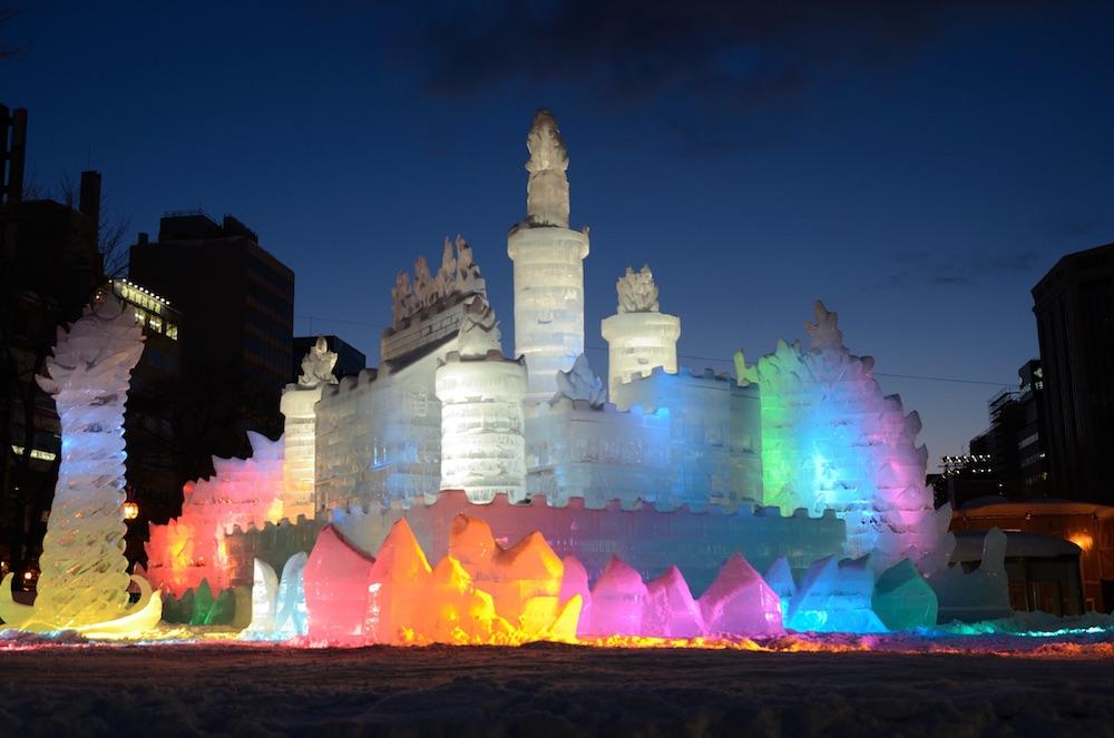 Ice Festival Hokkaido Prefecture Japan