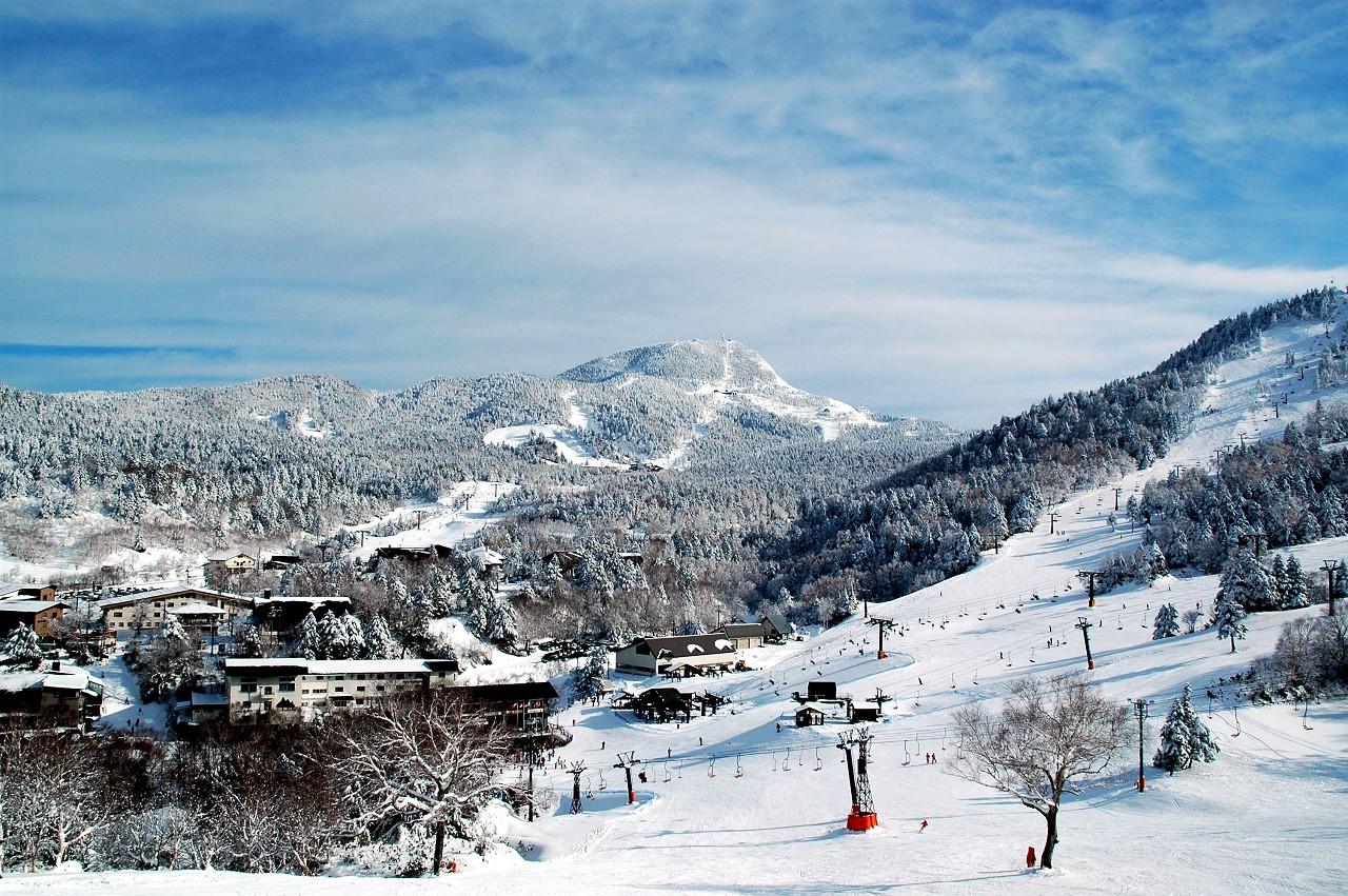Mountain Yamanouchi and Hakaba Nagano Prefecture Japan