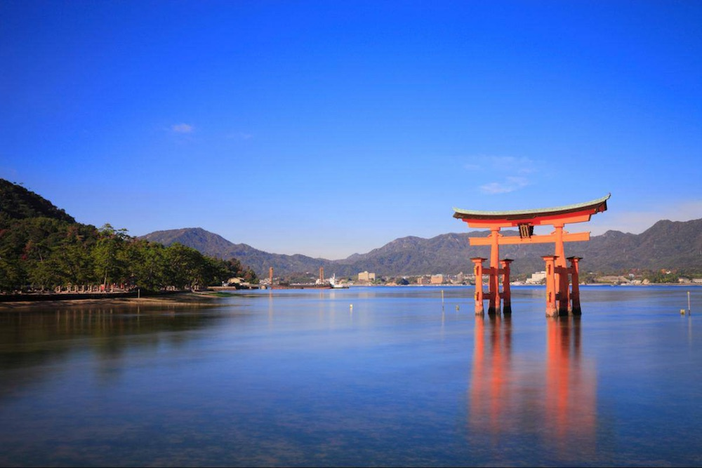 shrine island Hiroshima Prefecture Japan