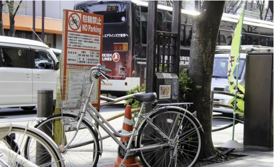 Where NOT to park in Tokyo - Churin Kinshi 駐輪禁止