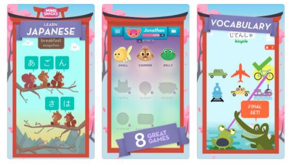 top 20 best apps for learning japanese - mindsnacks