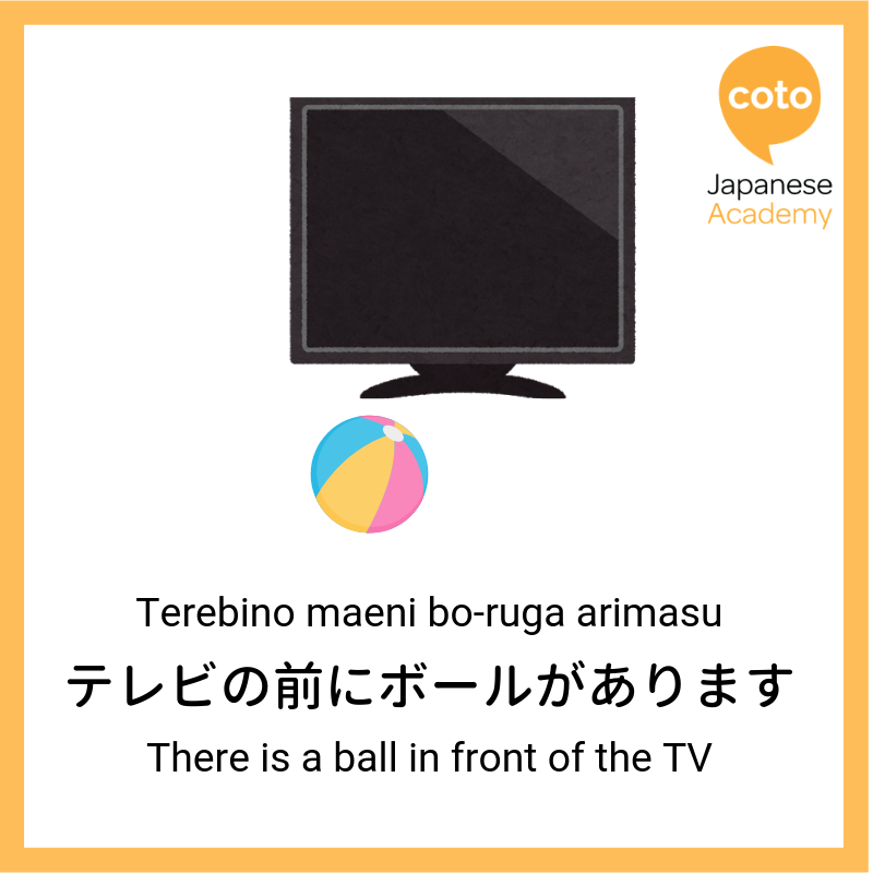 In Front in Japanese, image, photo, picture, illustration