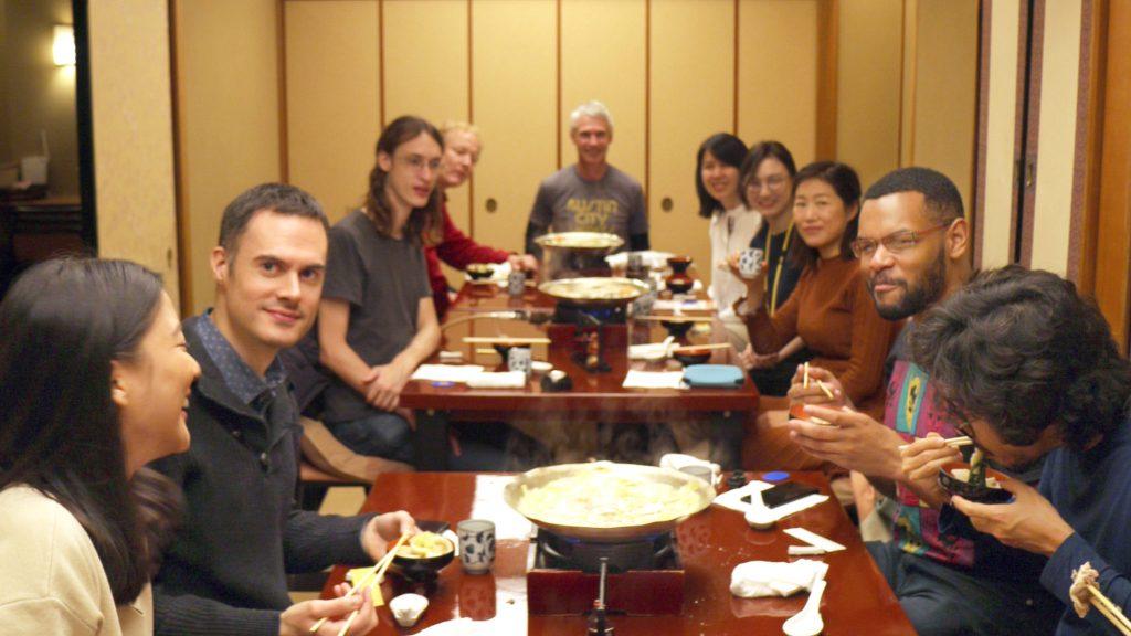 Kagurazaka lunch historic tour japanese English language exchange