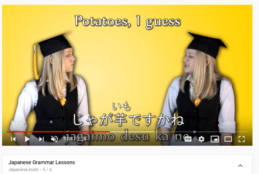 top 50 youtube channels to learn japanese - japanese joshi