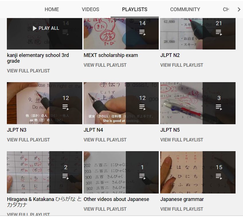 top 50 youtube channels to learn japanese - learning kanji