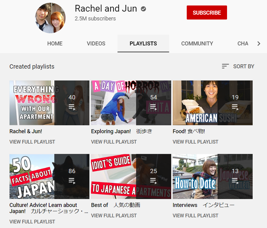 top 50 youtube channels to learn japanese - rachel and jun