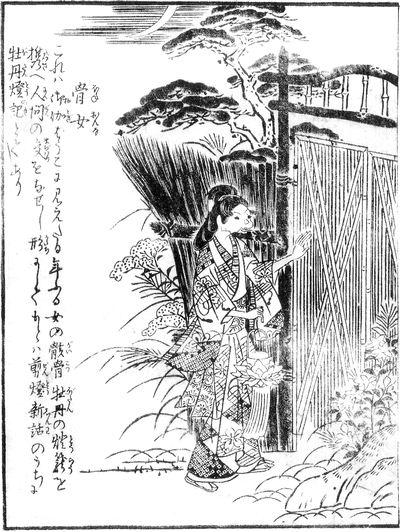 Japanese Youkai, hone onna, bone woman, image, photo, picture, illustration