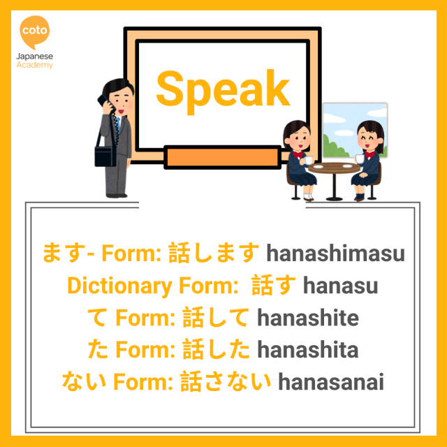 U-verb ー Verb Conjugation List with illustrations Part 3