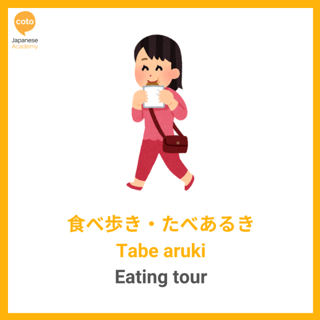 Japanese Hobbies and Sports Vocabulary, image, photo, illustration, picture, Eating tour