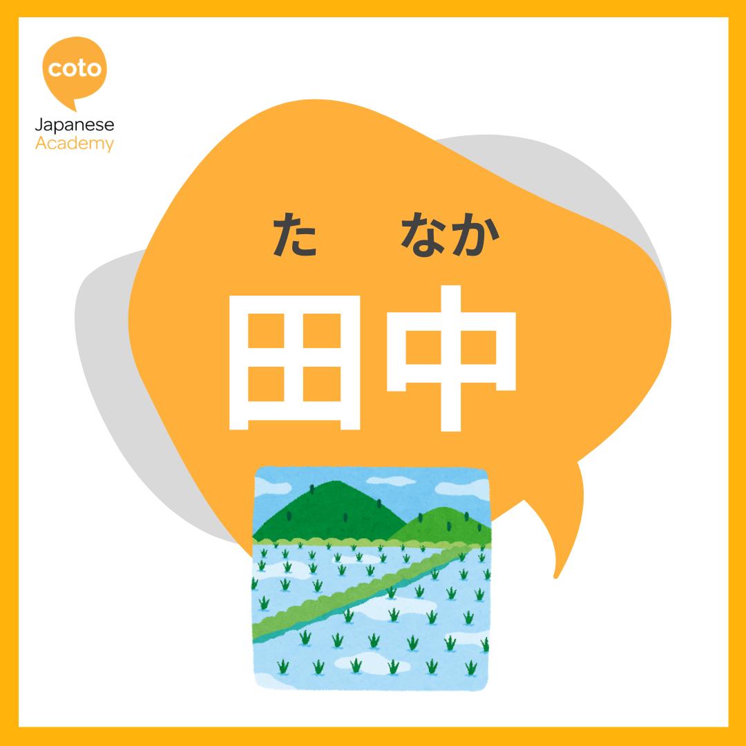 most popular japanese surnames tanaka