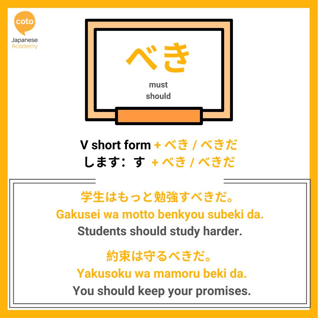 jlpt n3 grammar point べき