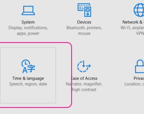 Windows Language Settings