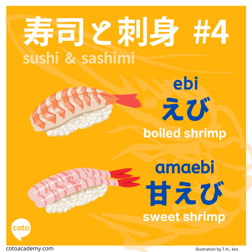 sushi and sashimi japanese shrimp