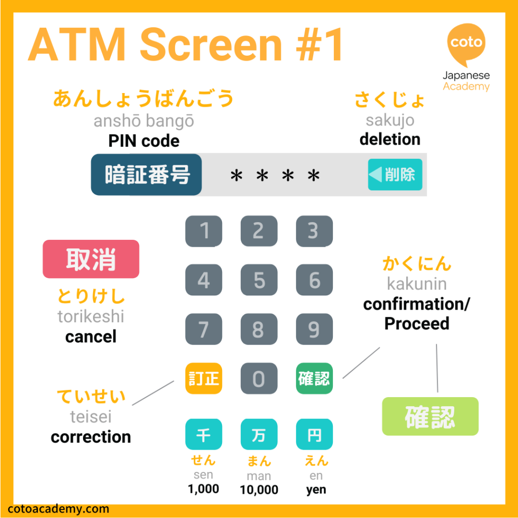 Japanese ATM screen 1