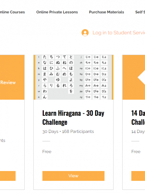 Free Japanese Learning Challenges