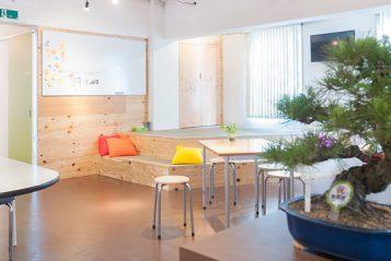 Tokyo Japanese Language School 3rd floor student lounge