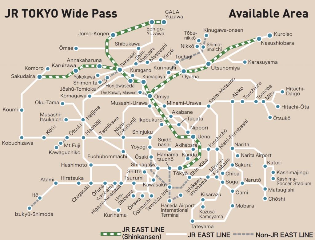 JR east pass map