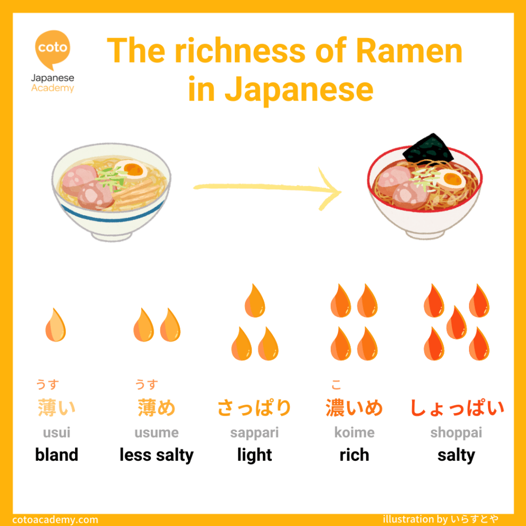 Ramen broth, soup, richness, salty, rich, bland