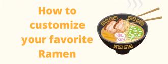 ways to customize own ramen