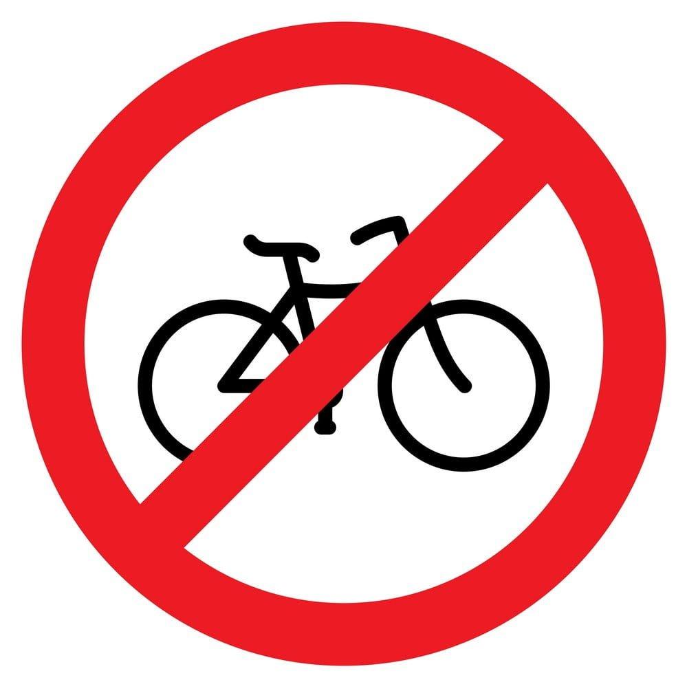 no bike parking sign in Japan
